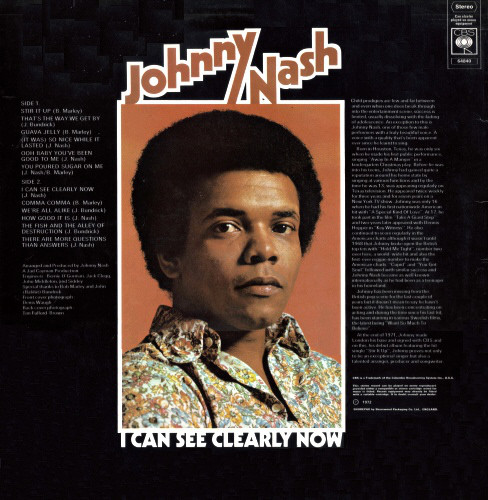 Johnny Nash - I Can See Clearly Now - Used Vinyl - High ...