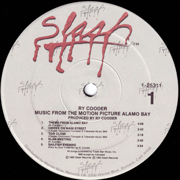 Music From The Motion Picture Alamo Bay - Ry Cooder