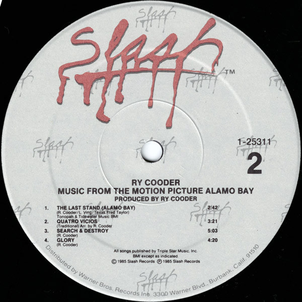 Music By Ry Cooder- Soundtrack details
