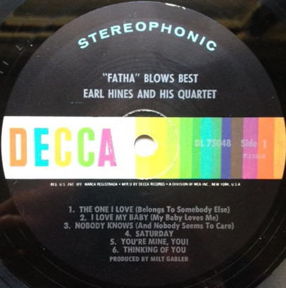 Earl Hines And His Quartet -