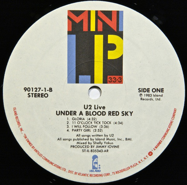 U2 Under A Blood Red Sky Live Used Vinyl High