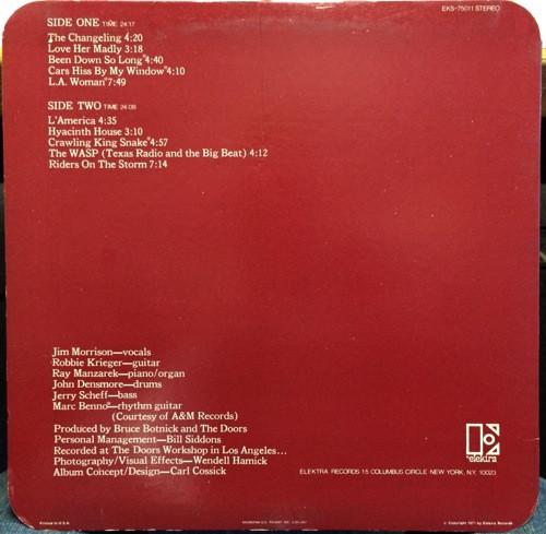 Doors The L A Woman Used Vinyl High Fidelity Vinyl