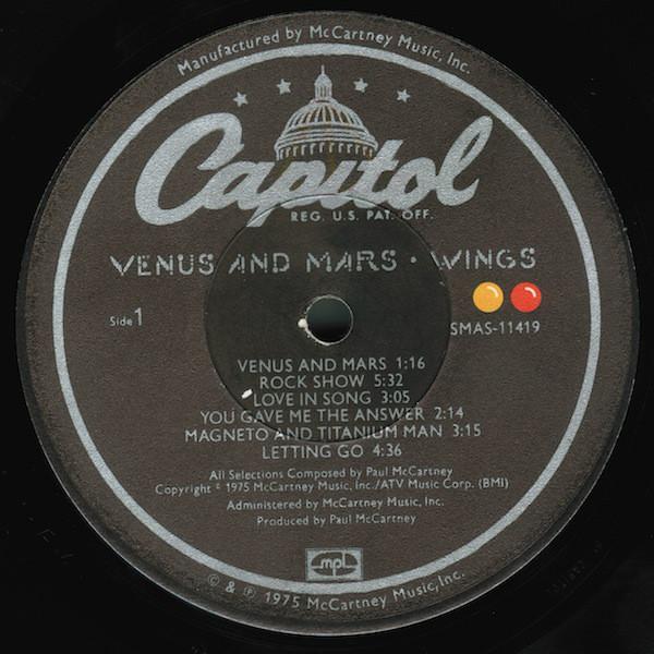 Wings - Venus And Mars - Used Vinyl - High-Fidelity Vinyl