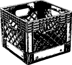 Record Crate (Shopping Cart)